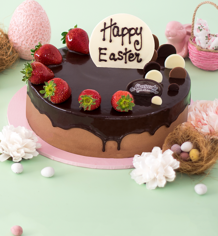 EASTER DOUBLE CHOC STRAWBERRY TORTE