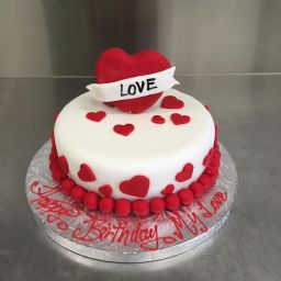Decorated With Different Sizes Love Heart And A Personalized Writing Perfect Birthday Gift For Your Loved One
