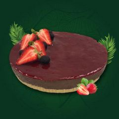 VEGAN CHOC BERRY CHEESECAKE