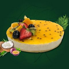 VEGAN PASSIONFRUIT CHEESECAKE