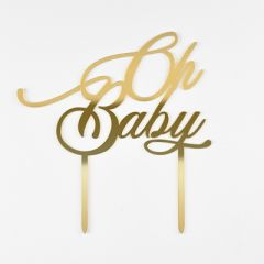 TOPPER OH BABY - GOLD MIRROR