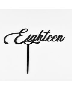 TOPPER EIGHTEEN - BLACK